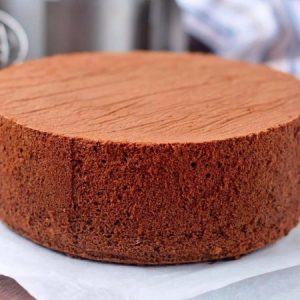 Eggless Chocolate Sponge Cake