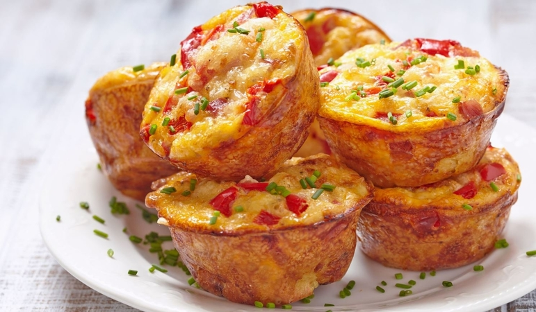 Vegetable Omelette Muffin