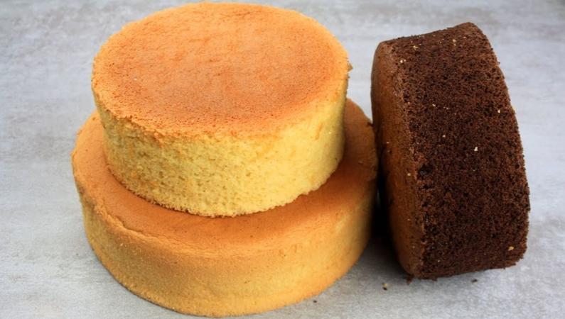 Double Chocolate and Vanilla Sponge Cake