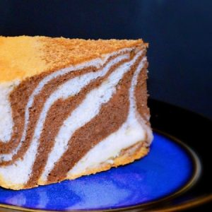 Eggless Zebra Yogurt Cake