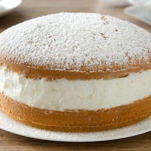 Soft Cake With Milk Cream