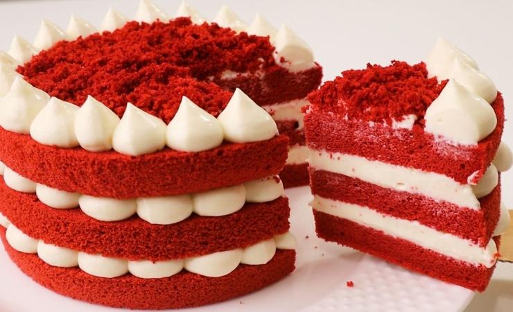 Red Velvet Chiffon Cake