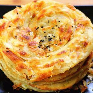 Flakey Scallion Pancakes