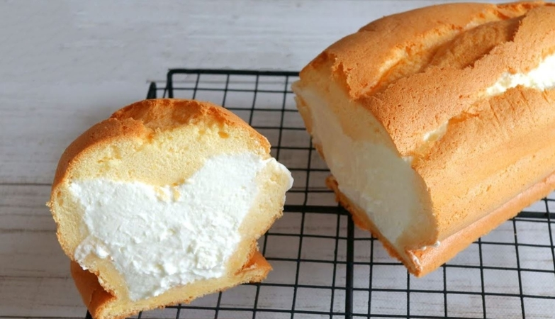 Whipped Cream Filled Pound Cake