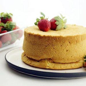 Spongy Milk Chiffon Cake