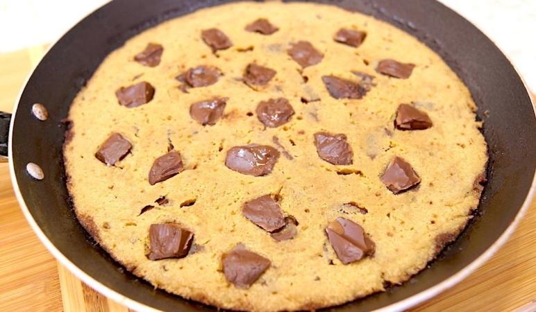 Warm, Gooey Pan Cookie