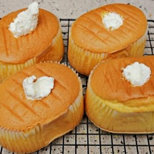 Cream Filled Castella Cake