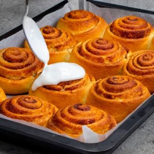 Condensed Milk Cinnamon Rolls