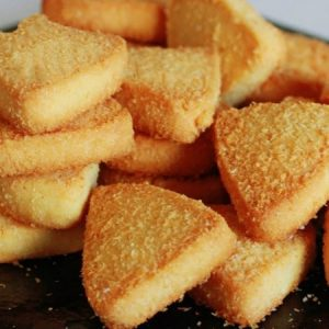 Desiccated Coconut Shortbread Cookies