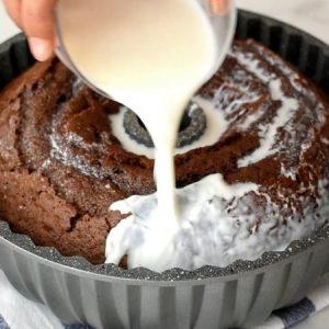 Eggless Hot Milk Chocolate Cake