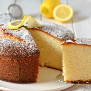 Moist Lemon Genoise Cake